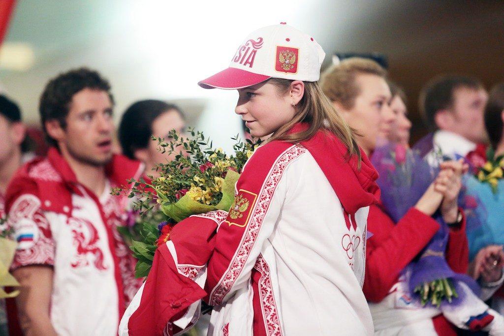 Спортсменка Юлия Липницкая упала во время выступления