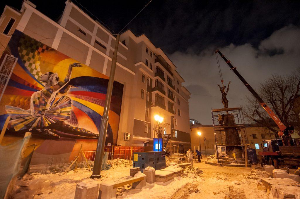 Монумент Майе Плисецкой открыли на Большой Дмитровке