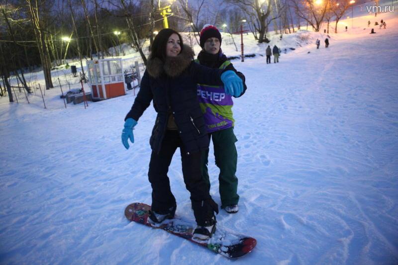 Бесплатная горка для катания на сноубордах появится в Парке Горького