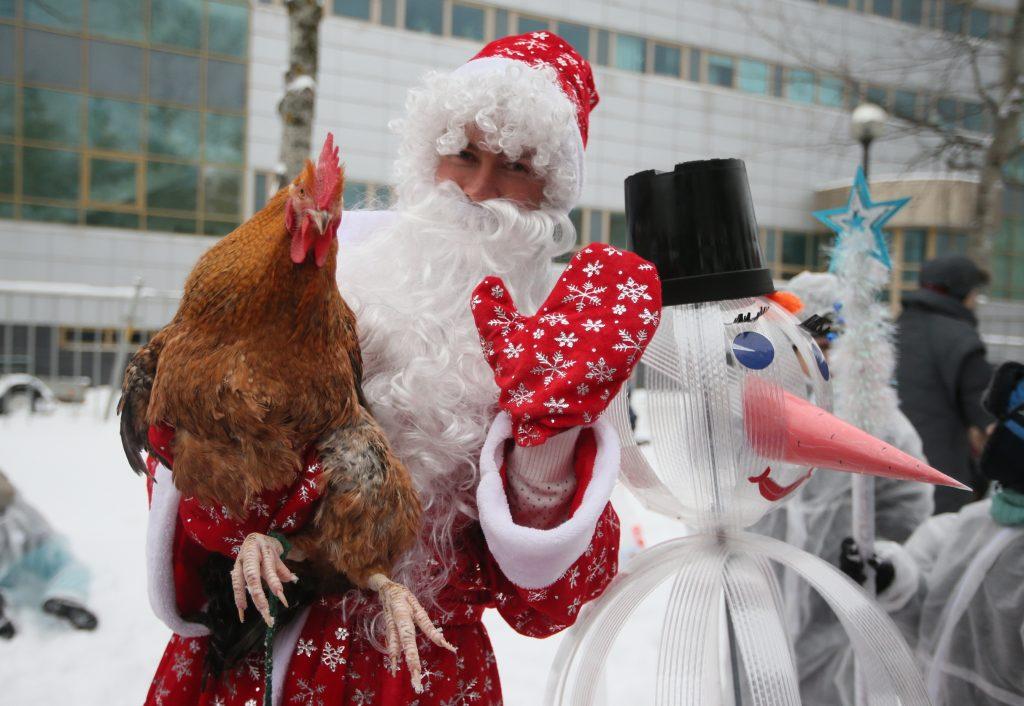 Москва. ТиНАО. г.Троицк. Фестиваль снеговиков. Фото: Виктор Хабаров.