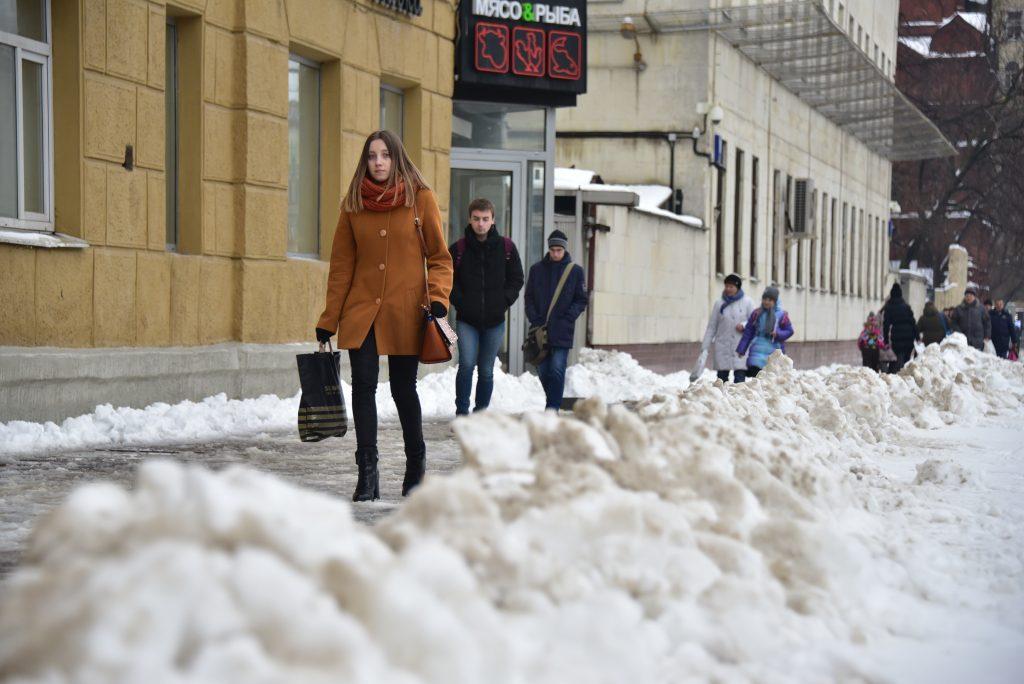 «Желтый» уровень опасности объявлен в Москве из-за снега