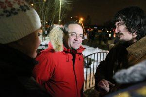 Префект ТиНАО Дмитрий Набокин посетил 18 января богослужение в храме поселения Филимонковское. Фото: Виктор Хабаров