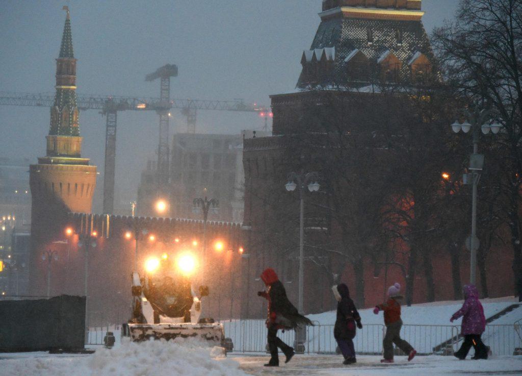 "Москвичей на следующей неделе ждут снегопады и потепление. Фото: ""Вечерняя Москва"""