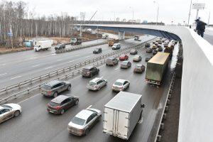 21 декабря 2015 Мэр Москвы Сергей Собянин открыл развязку на пересечении МКАД-Ленинский проспект
