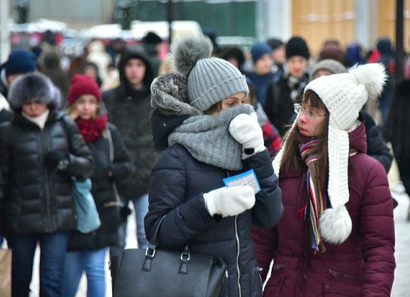 Москву атакует мороз