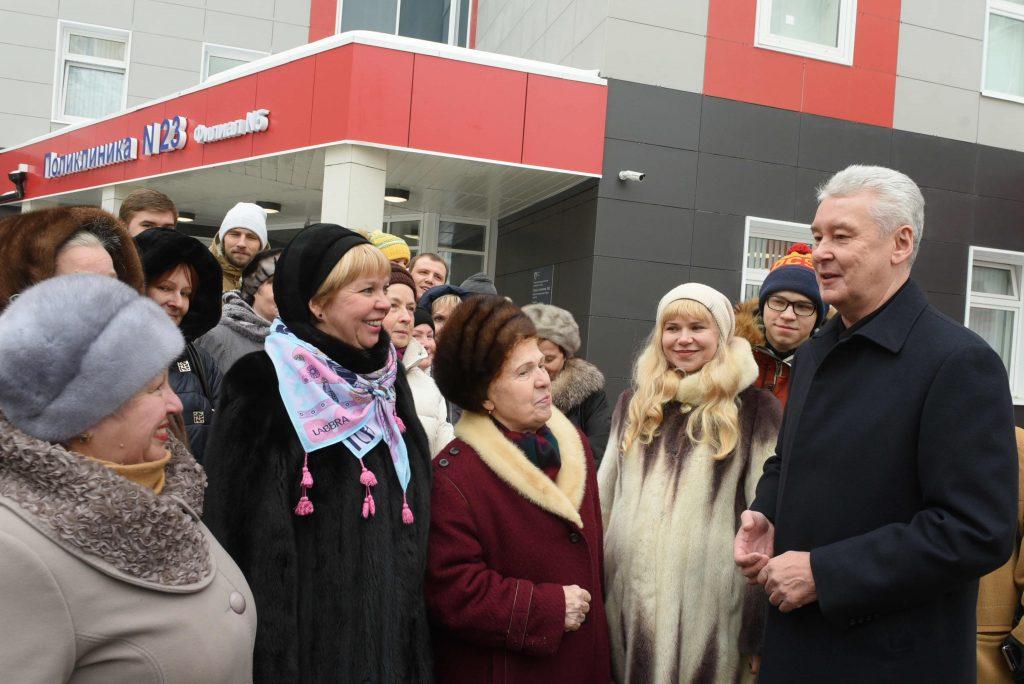 Собянин открыл новую поликлинику в Некрасовке