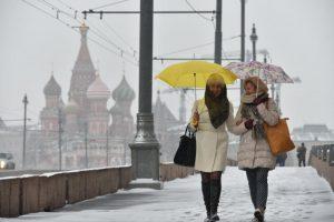 """Горожан на выходные ожидают мокрый снег и гололедица . Фото: """"Вечерняя Москва"""""""