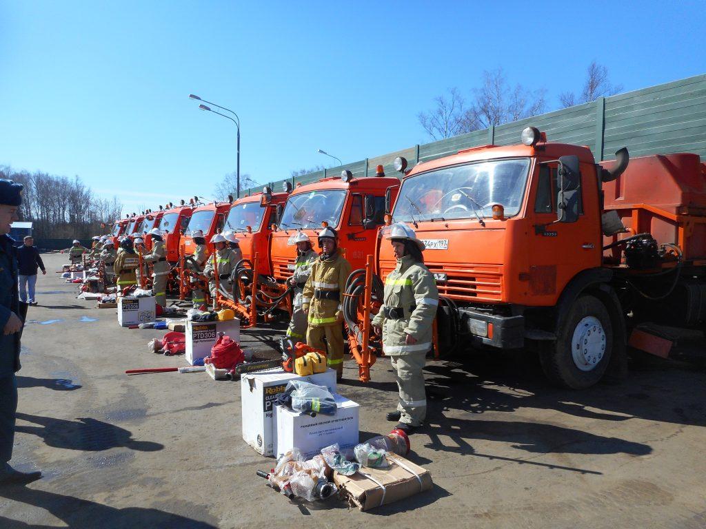 Сводные отряды поливомоечной техники будут проверены на готовность к тушению природных пожаров