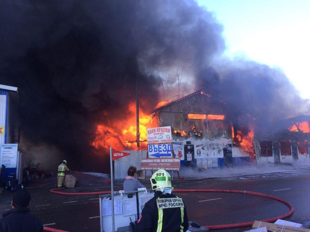 МЧС потушило масштабный пожар в Новой Москве