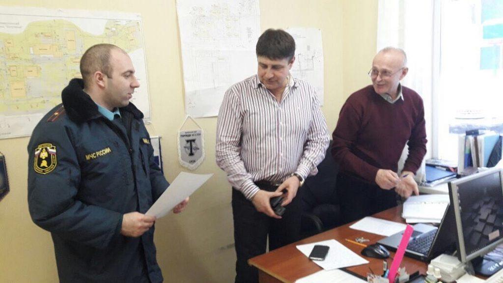 Сотрудники МЧС проводят надзорно-профилактические мероприятия