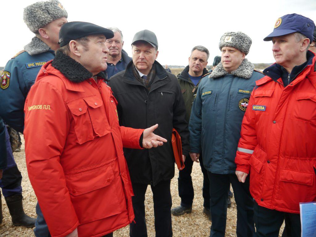 Масштабная тренировка спасателей прошла в Вороновском