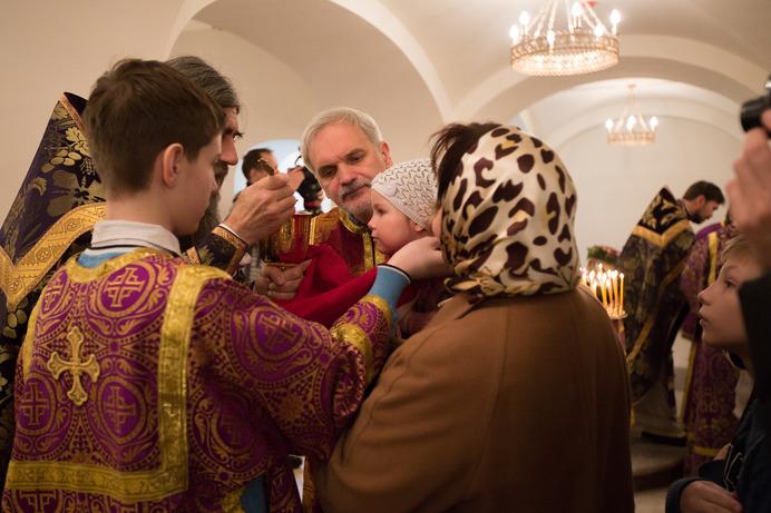 Первая служба прошла в новом Троицком храме