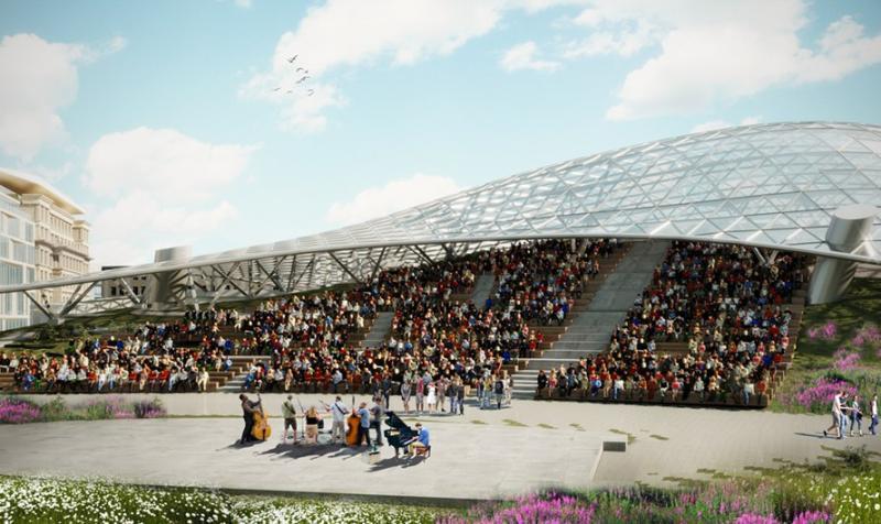В Москомархитектуре утвердили проект летнего амфитеатра в «Зарядье»