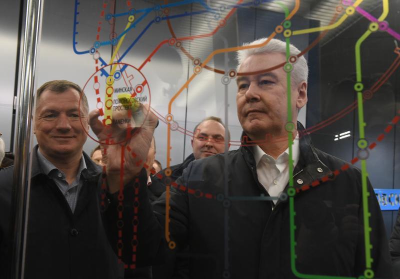 Собянин открыл три новые станции метро