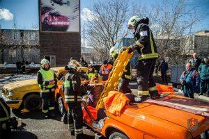 ожарные и спасатели Новой Москвы стали участниками соревнований. Фото: пресс-служба Управления МЧС по ТиНАО