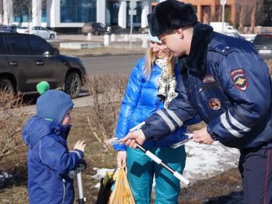 Дорожные инспекторы проведут акцию в защиту детей. фото: пресс-служба УВД по ТиНАО