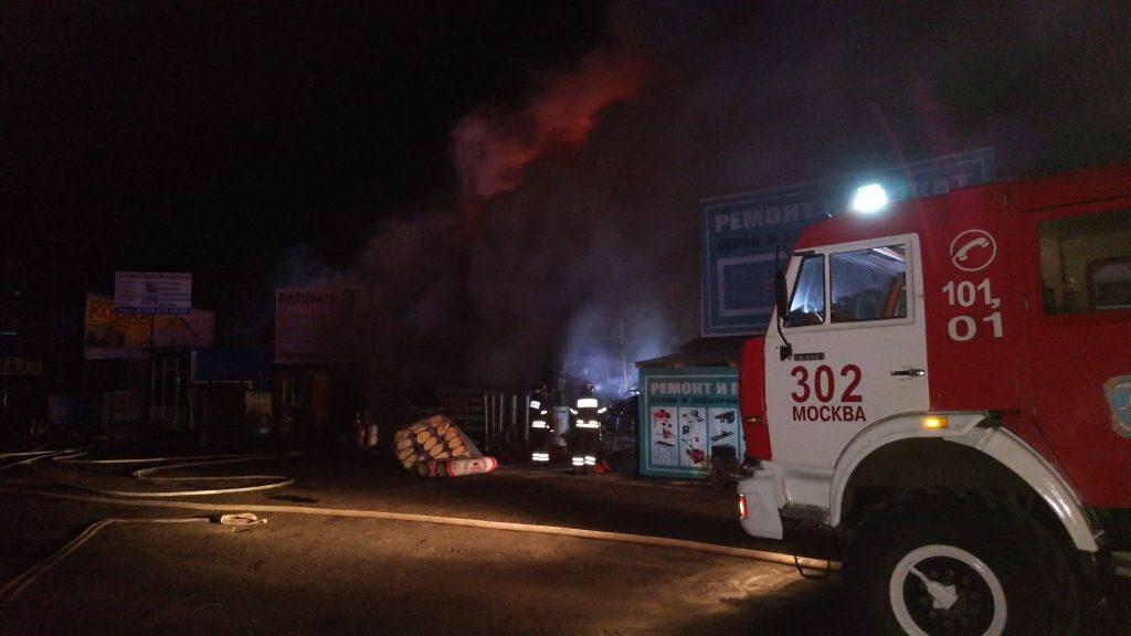 Спасатели ликвидировали пожар в Новой Москве