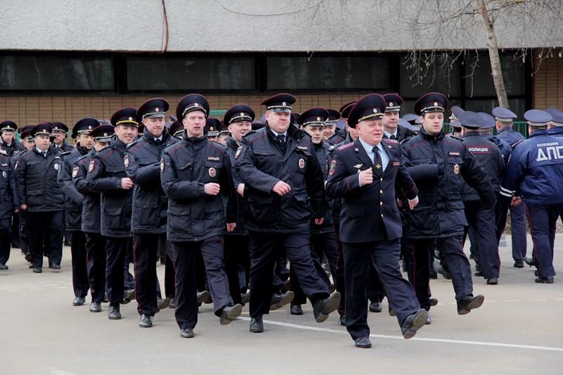Строевой смотр личного состава Управления внутренних дел прошел в Новой Москве