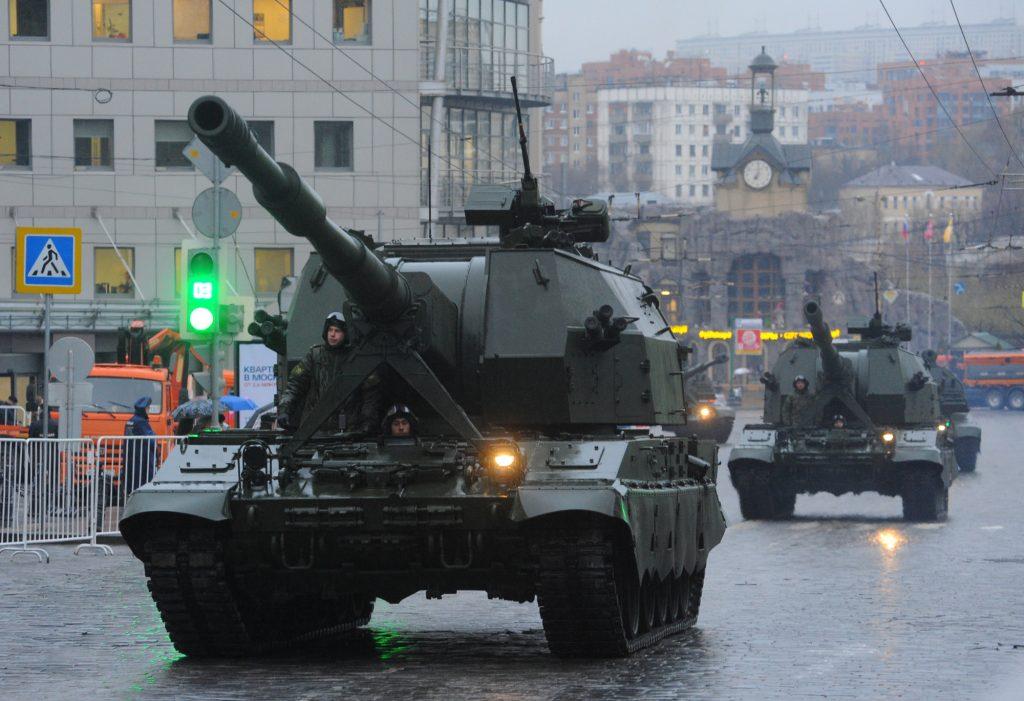 «Дождливая» репетиция парада Победы прошла в Москве