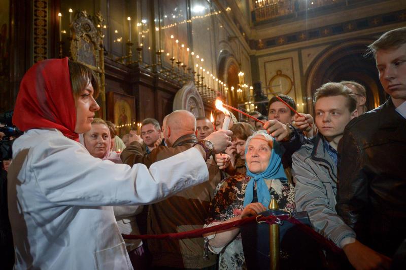 В Москве Светлое Христово Воскресение отпраздновало более миллиона человек. Фото: Александр Казаков