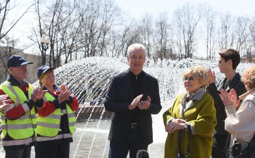 Мэр Москвы дал старт сезону фонтанов-2017
