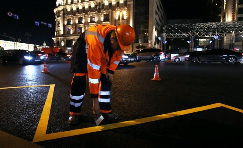 Обновление дорожной разметки началось в Москве