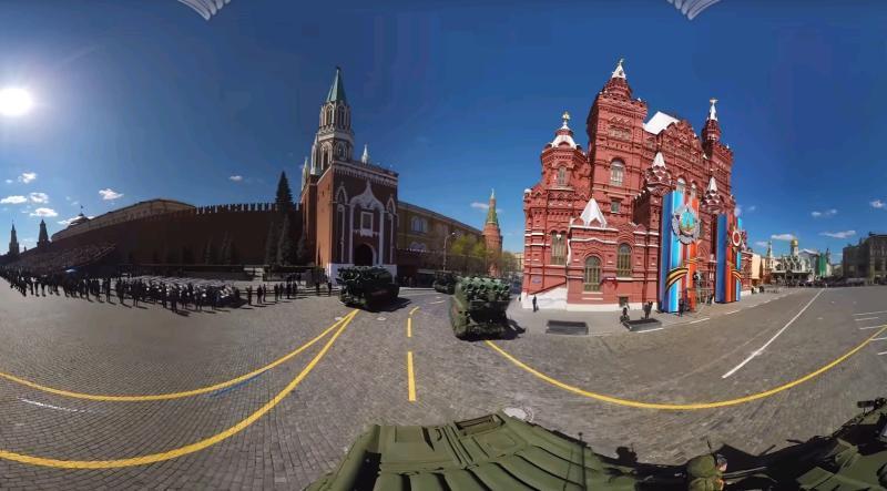 Минобороны показало видео репетиции парада Победы в формате 360 градусов