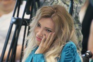 Филимонки. 20 июня 2017 года. Юлия Самойлова после концерта в доме-интернате. Фото: Виктор Хабаров