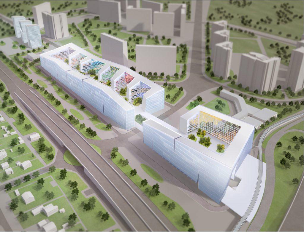 Проект транспортно-пересадочного узла «Рассказовка» в Новой Москве, строительство которого началось в марте 2017 года.