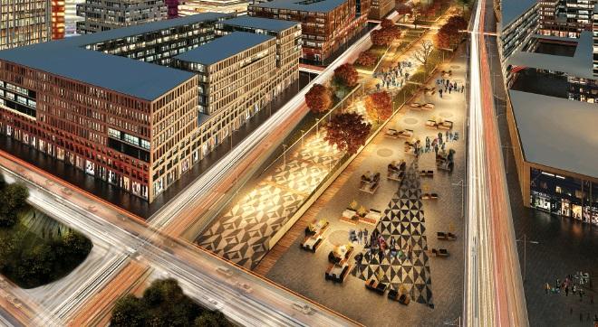 Два транспортных узла построят для делового центра в Коммунарке
