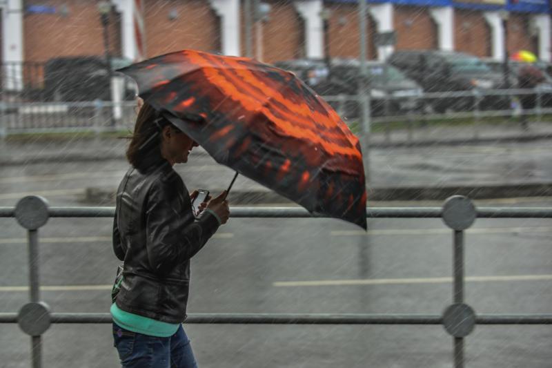 Сильный ветер и осадки не покидают Москву. Фото: Наталья Феоктистова, «Вечерняя Москва»