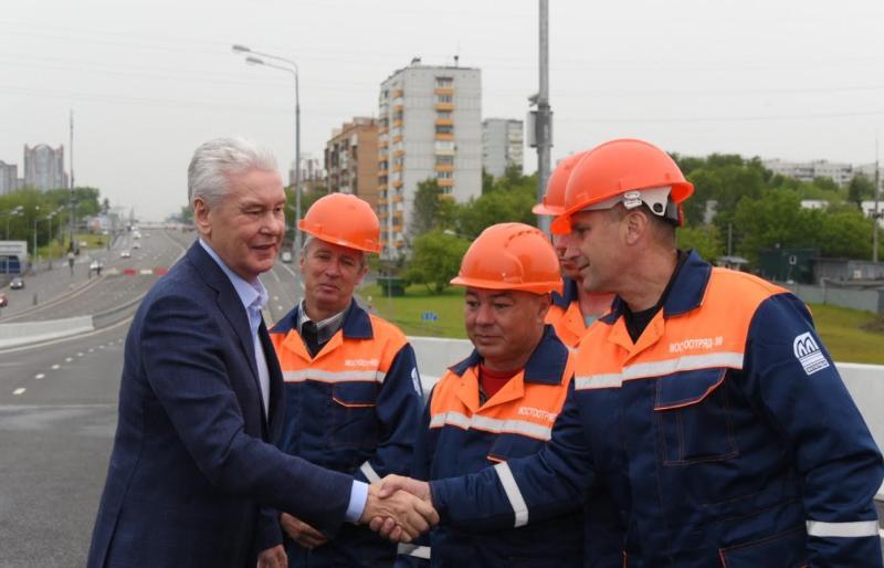 Мэр Москвы Сергей Собянин 7 июня осмотрел ход капитального ремонта Филевской линии метро
