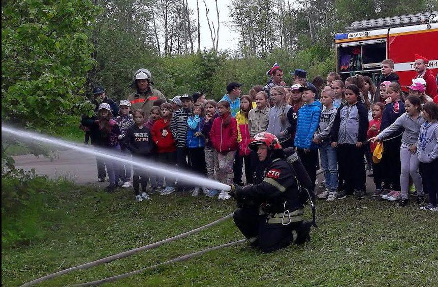 Праздник безопасности организовали пожарные и спасатели в детском лагере Вороновского