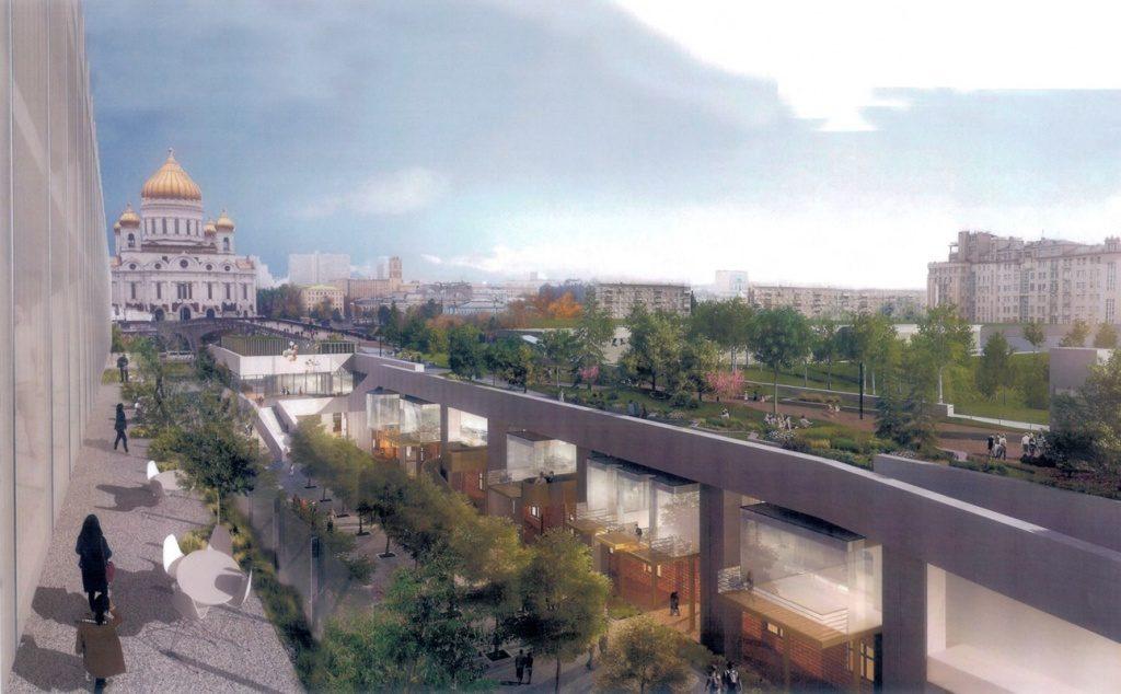 Под Патриаршим мостом в Москве «заведутся» кафе и музеи