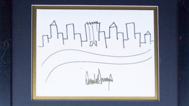 Рисунок Дональда Трампа в США продадут за девять тысяч долларов