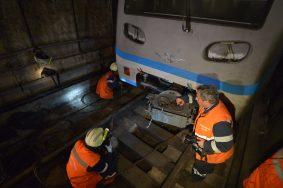 Поезда «оранжевой» ветки метро ходили с увеличенными интервалами