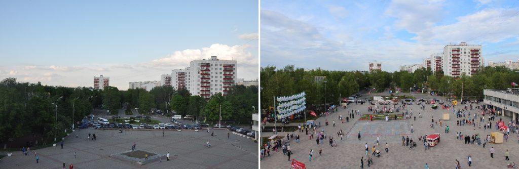 Было — Стало. Поселение Московский. Центральная площадь после реконструкции. Фото: Администрация поселения Московский