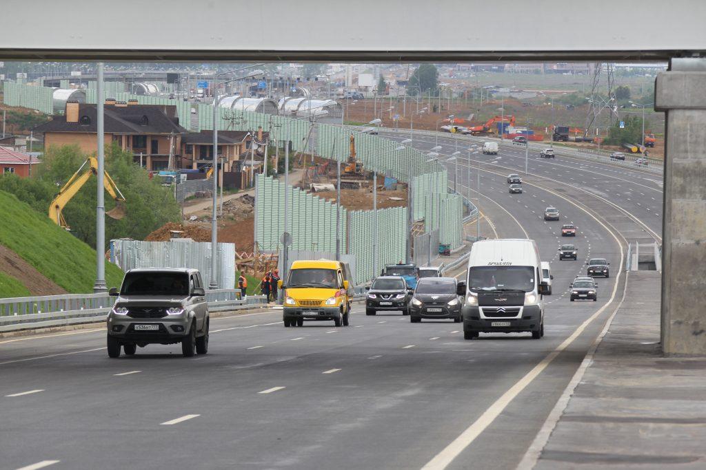 В июле подошел к концу первый этап реконструкции «Калужки» - одной из основных транспортных артерий Новой Москвы. Фото: Владимир Смоляков