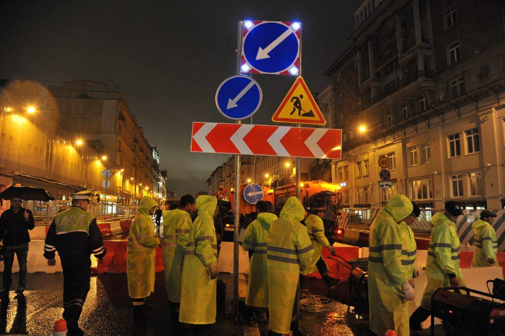 Тверскую улицу открыли для проезда транспорта на сутки раньше