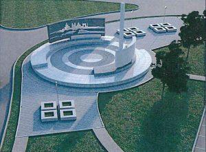 Схема проекта памятного знака. Фото предоставлено администрацией поселения Внуковское