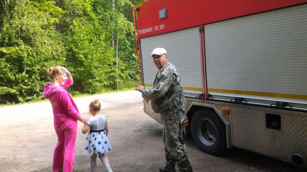 Троих заблудившихся в лесу жителей Новой Москвы нашли спасатели