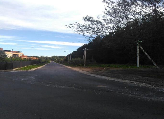 Ремонт дороги завершили на территории поселения Краснопахорское
