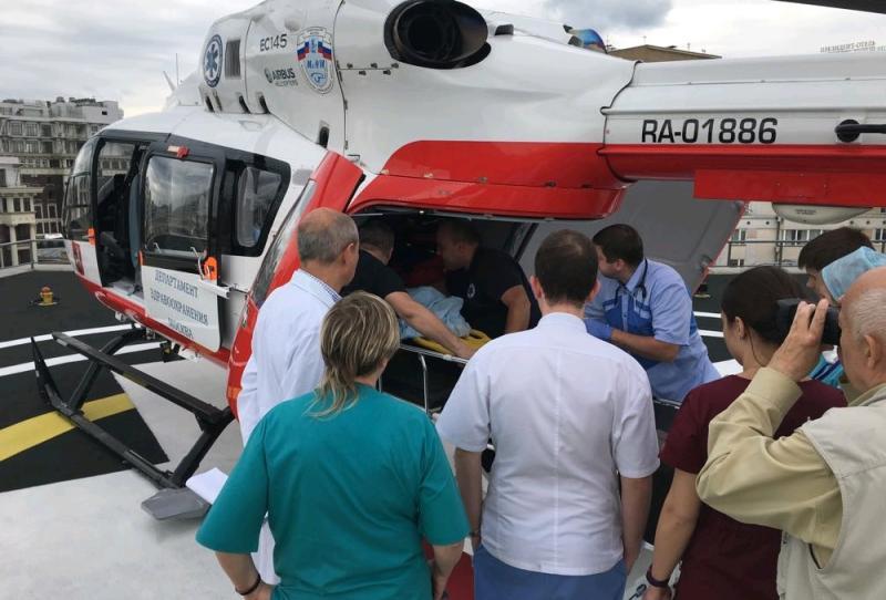 Санитарный вертолет эвакуировал пострадавших после крупного ДТП в ТиНАО