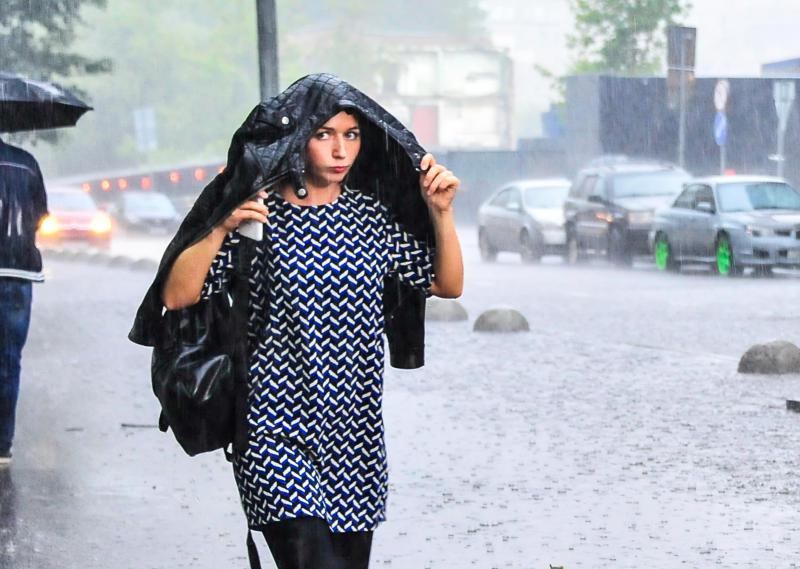 Ночью на Москву обрушился сильный дождь