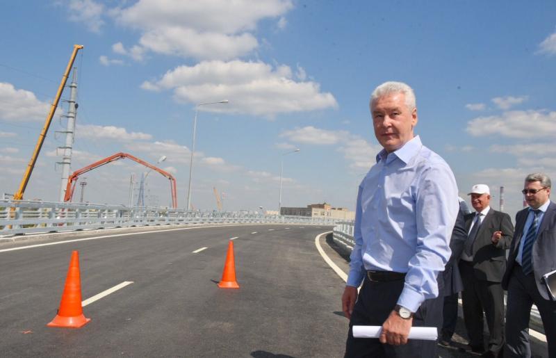 Собянин открыл две эстакады на развязке СВХ с Щёлковским шоссе