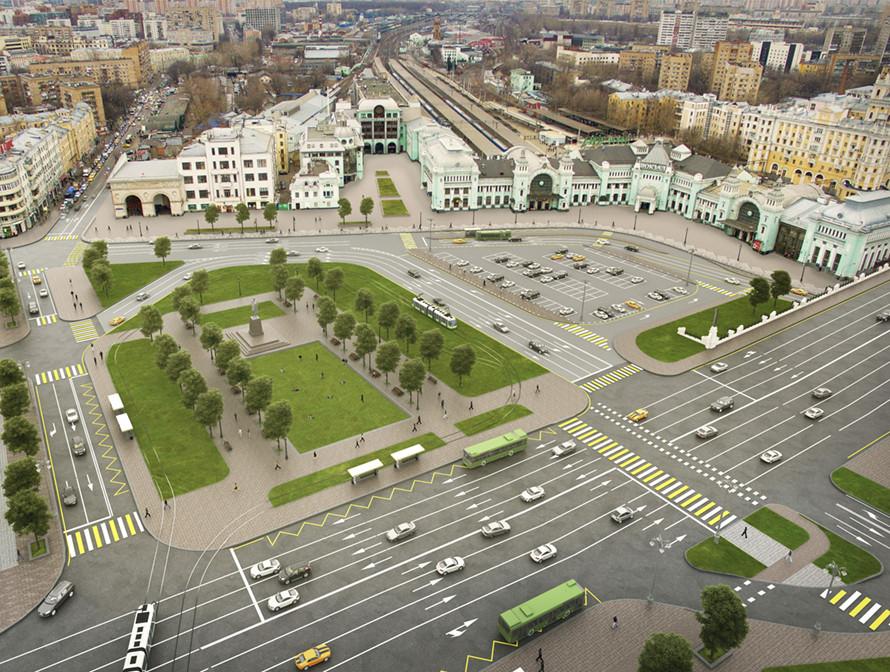 На выходных для водителей закроют площадь Тверская Застава