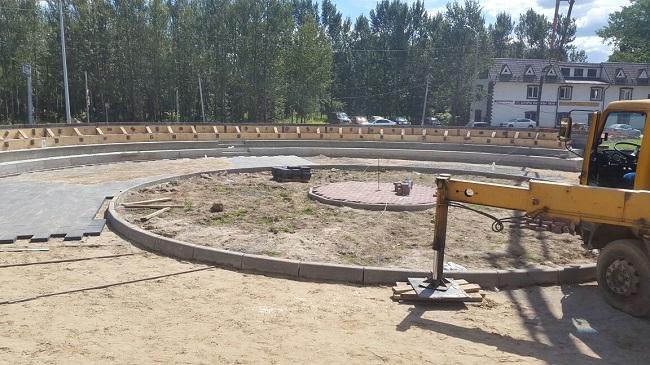 Строительство амфитеатра в Кокошкино завершено на 60 процентов