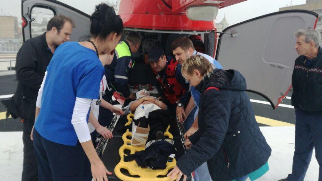 Назападе Москвы вДТП страктором пострадали трое взрослых иребенок