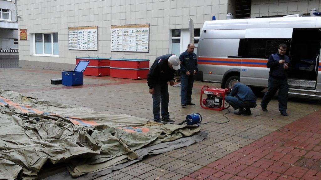 Тренировку по развертыванию подвижного пункта управления провели в Новой Москве