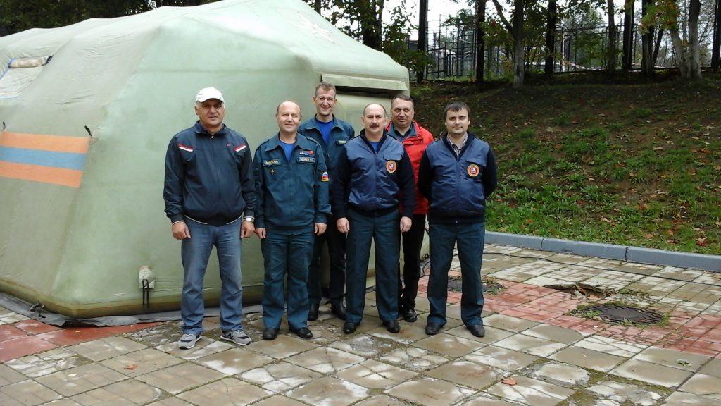 Спасатели Новой Москвы провели тренировку в рамках празднования годовщины Гражданской обороны